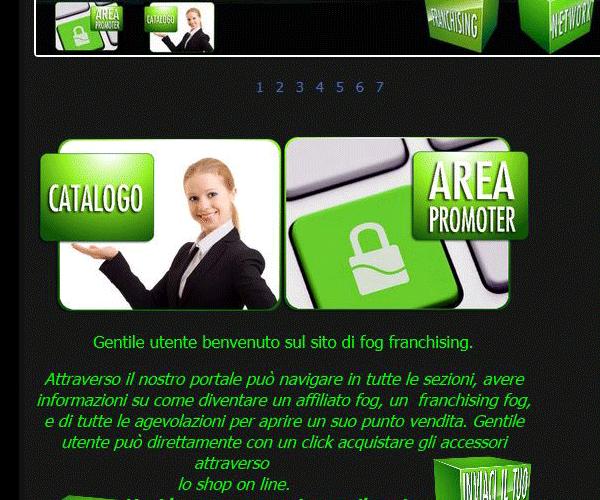 Area riservate con codice automatico multi sezioni all'interno di un sito web.